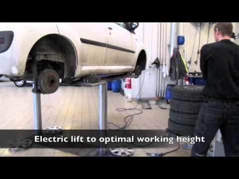 Løft og håndtering af dæk og hjul